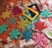 Ёлочные игрушки снежинки