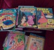 ДВД диски с мультиками и детскими фильмами.
