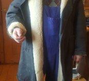 Пальто меховое из овчины авиационное