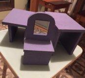 Кукольная мебель 12 шт барби