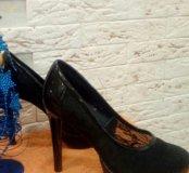 Туфли из гипюра