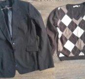 Пиджак  h&m и 2 кофты