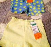 Новые шортики для девочки Benetton с бирками
