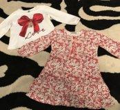 Платье на девочку crockid, кофта Benetton