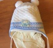 Шапочка для новорожденного и пинетки