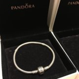 Продам браслет Pandora с замком P-lock 18см