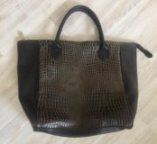 Черная сумка крокодил