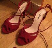 Красные туфли босоножки