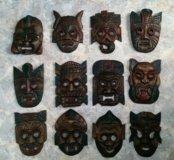 Декоративные маски из дерева