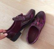 Ботинки бордовые
