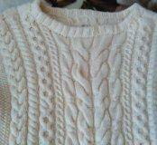 Новый теплый свитер ручная работа