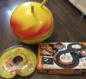 Гимнастический шар, круг для плавания, гон.трасса
