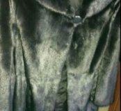 Шуба из норки с капюшоном и поясом 50-52 р-р