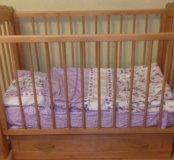Кроватка детская и матрац