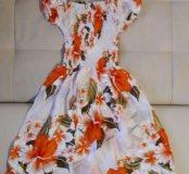 Новое платье из хлопка
