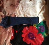 Зимние вещи( джинсы, свитер, туника)