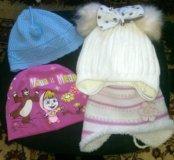 2 зимние шапки две весна