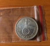 🛰3 рейх, Серебро, 5 марок 1936г. А