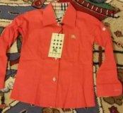 Новая красная рубашка Burberry