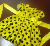 Праздничное платье в горошек