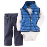 Комплект carters флисовая жилетка и штаны 9-24м