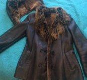 Кожаная куртка на натуральном меху