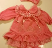 Платье велюровое нарядное