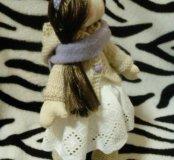 Текстильная куколка ручной работы