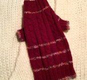 Вязаный шерстяной свитер для домашних питомцев