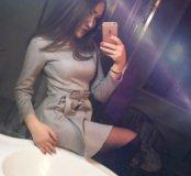 Платье микровелюр