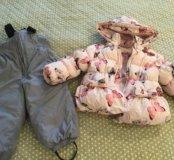 Комплект куртка и полукомбинезон зима р 86