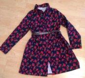 Платье-рубашка из фланели