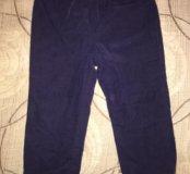 Вельветовые брюки на флисе (р.92) - 2шт. Серые+Син