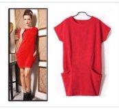 Платье-туника,трикотаж,размер 42-44