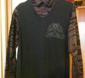 Рубашка-кардиган XL