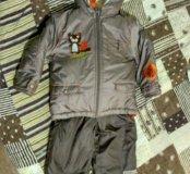 Комплект куртка и полукомбинезон зима 86