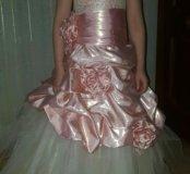 Детское нарядное бальное платье