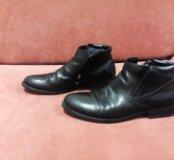 Кожаные туфли на меху Ronny