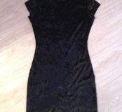 Платье велюр