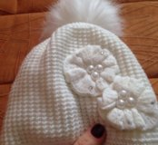 Зимние шапочки и рукавички для девочки