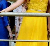 Вечернее желтое платье 44-46