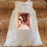 Летнее джинсовое платье-сарафан