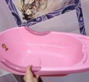 Ванночка для купания + горка на присоске