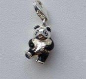 Подвеска панда, турецкое серебро, новая