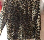 Шифоновая рубашка леопард