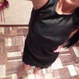 Платье кожанное
