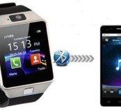 Смарт часы iOS, Android (bluetooth+сим-карта) DZ09