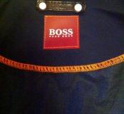 Куртка мужская кожаная Hugo boss с вышивкой