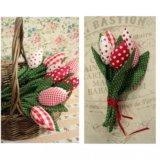 Тюльпаны текстильные красные
