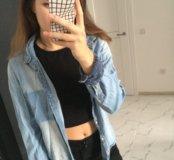 Рубашка джинсовая(Zara)